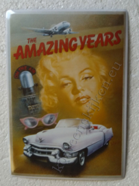 blikken ansichtkaart Marilyn Monroe 15-21 cm