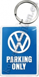 metalen sleutelhanger Volkswagen parking only