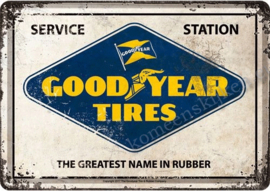 metalen ansichtkaart goodyear tyres 10-14 cm