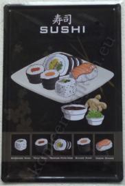 metalen reclamebord sushi 20-30 cm