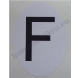 sticker ovaal Frankrijk staand 6,5 cm bij 9 cm