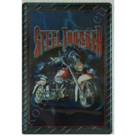 metalen reclamebord Steel thunder 20-30 cm