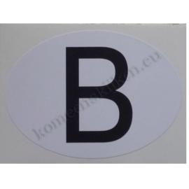 sticker ovaal België 9 bij 6,5 cm
