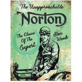 metalen wandplaat Norton, choice of the expert 30-40 cm