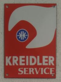 emaille bord Kreidler service 10x14 cm