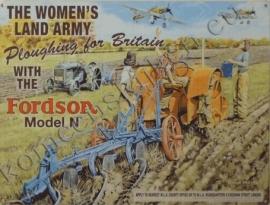 wandplaat fordson / ploughing woman 30-40 cm