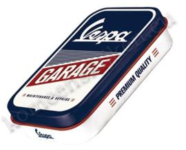 metalen pepermuntdoosje Vespa Garage XL