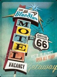 metalen wandbord route 66 motel 30-40 cm..