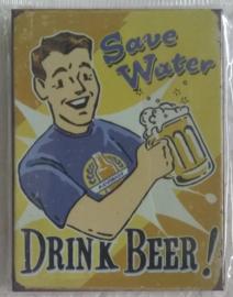 koelkastmagneet drink beer!