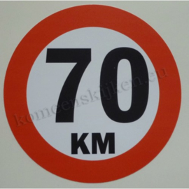 sticker 70 km 14 cm