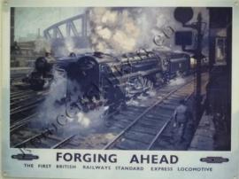 metalen wandbord forging ahead 30-40 cm