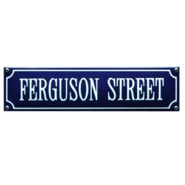 emaille straatnaambord ferguson street