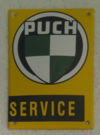 emaille bord Puch service 10x14 cm