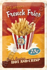 metalen wandplaat french fries 20-30 cm
