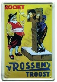 metalen reclamebord van Rossem`s troost 30-40 cm