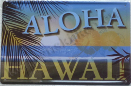metalen reclamebord aloha hawaii 20-30 cm
