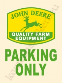 metalen wandplaat john deere parking only 30-40