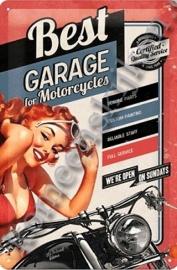 metalen wandplaat best garage 20-30 CM