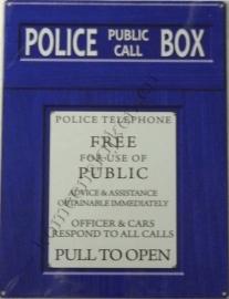 metalen wandplaat police public call box 30x40 cm