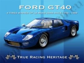 blikken wandplaat ford GT 40 30-40 cm