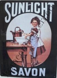 metalen reclamebord sunlight savon 30-40 cm