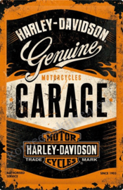 metalen reclamebord XXL harley davidson garage 40-60 cm