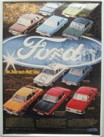 blikken reclame bord ford collage 30-40 cm