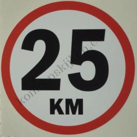 sticker 25 km 11 cm.