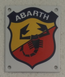 emaille bord Abarth 10x12 cm