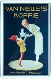 metalen reclamebord Van Nelle`s koffie 20-30 cm
