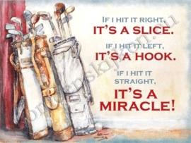 blikken wandplaat golf / miracle 30-40 cm