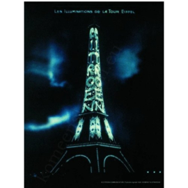 metalen reclamebord eiffeltoren verlicht met Citroen 20-30 cm