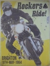 metalen wandplaat rockers ride 30-40 cm
