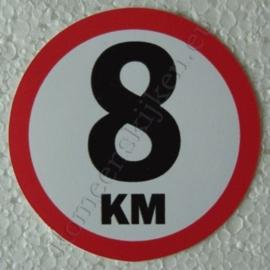 sticker 8 km 7,5 cm