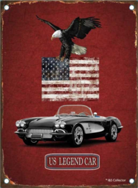 metal sign us legend Chevrolet Corvette 15x20 cm