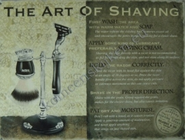 metalen wandplaat the art of shaving 30-40 cm