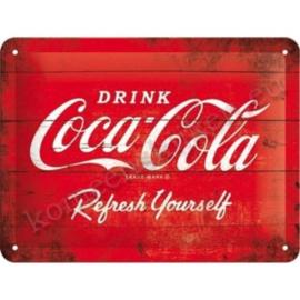 metalen bord coca cola rood 15-20 cm