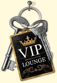 metalen sleutelhanger VIP lounche