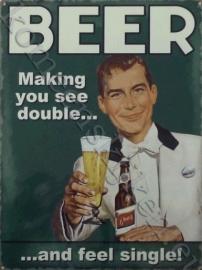 koelkast magneet beer, see double