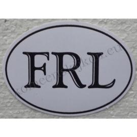 ovale sticker friesland klassiek 8,8 cm bij 6,4 cm