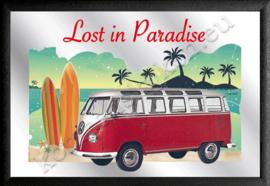 spiegel volkswagen bus T1 samba lost in paradise beach