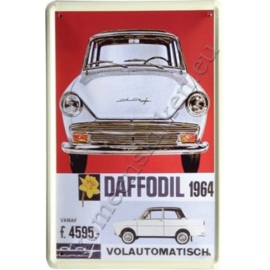 metalen ansichtkaart  Daf 10-14 cm.