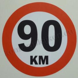 sticker 90 km 14 cm rond