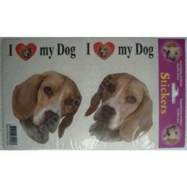 hondenstickerset beagle