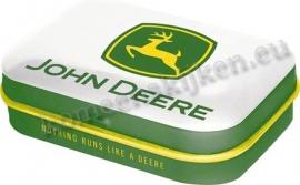 mintbox john deere logo, witte achtergrond