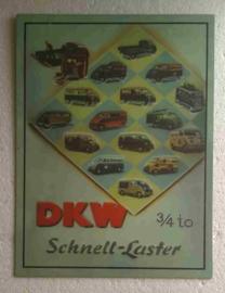 metalen wandplaat DKW Schnel-laster 36x26 cm