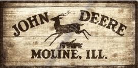 metalen wandbord john deere 25-50 cm