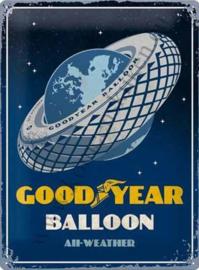 metalen muurbord goodyear balloon 30x40 cm