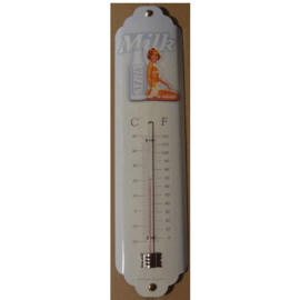 metalen thermometer milk / pin up