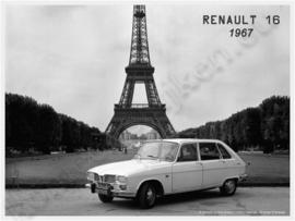 blikken wandplaat Renault R16 eiffeltoren 1967 30-40 cm